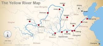 rivers in china map the geography of the yellow river