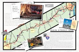 Route 66 Illinois Map by Ride Maps Smoky Mountain Motorcycle Rider Trans America Trail