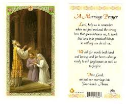 marriage prayers for couples a marriage laminated prayer card
