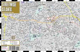 Phl Airport Map Streetwise Atlanta Map Laminated City Center Street Map Of
