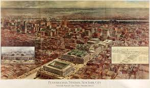 Penn Station New York Map by Penn Station New York City 1910