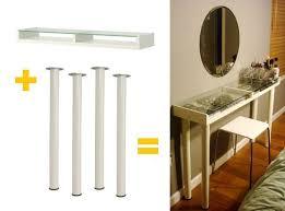 Ikea Vanity Desk 134 Best Diy Vanity Images On Pinterest Vanity Ideas Diy Vanity
