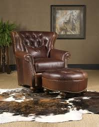 Brown Leather Chair With Ottoman Leather Chair Ottoman High End Furniture
