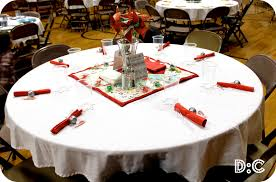 destination craft christmas party table christmas party decor