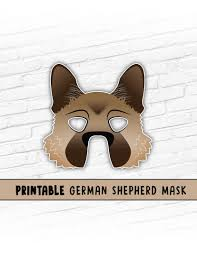 halloween mask printable german shepherd mask malinois dog mask printable halloween