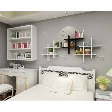 homdox étagère murale pr maison meuble petit en bois rangement mural