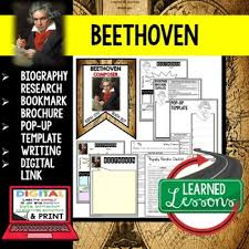 beethoven biography in brief beethoven biography teaching resources teachers pay teachers
