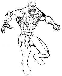 spiderman venom coloring pages coloring