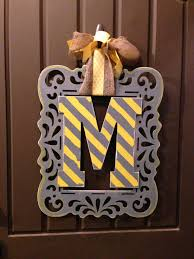 Halloween Wreaths Michaels by Monogram Wreath Using Wood Frame Cutout From Michael U0027s Crafts