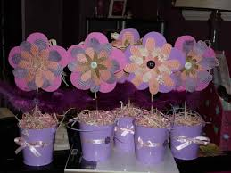 ballerina baby shower decorations for a purple baby shower
