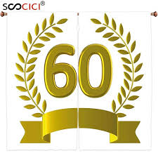 60th birthday decorations aliexpress buy window curtains treatments 2 panels 60th