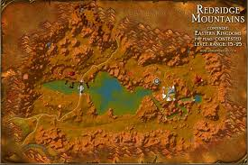map quests redridge mountains map with locations npcs and quests of