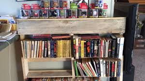 diy wooden pallet bookcase youtube