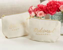 Bridal Makeup Bags Gold Foil Bridesmaid Canvas Makeup Bag Kate Aspen