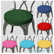 22 Inch Outdoor Chair Cushions Round Garden Chair Cushion Pad Only Waterproof Outdoor Bistro