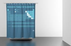 Science Is Awesome Periodic Table Of Elements Eva Shower Curtain I Had Always Wanted A Periodic Table Shower Curtain But Never
