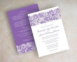 Wedding Invitations Purple Lavender Lace Wedding Invitations Purple Lace Wedding Invitation