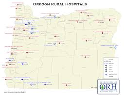 Oregon Map by Rural Hospitals Oregon Office Of Rural Health Ohsu