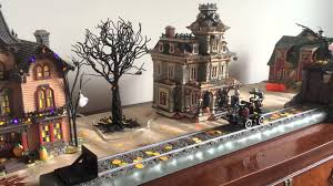 lemax halloween houses the halloween train 2014 department 56 village youtube
