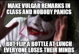 Vulgar Memes - meme creator make vulgar remarks in class and nobody panics but