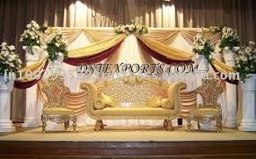 Wedding Stage Chairs Asian Wedding Stage Decoration Romantic Decoration