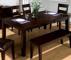 dark brown color painted wood rectangular double drop leaf dining