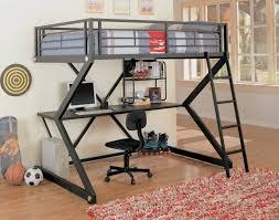 metal design bunk bed desk combo