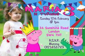 sunshine invitation 10 personalised peppa pig and george birthday party invitations 3
