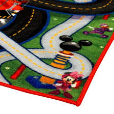Mickey Mouse Rugs Carpets Mickey Mouse Green U0026 Gray Game Rug 2 U00277