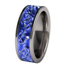 blue titanium wedding band color anodized titanium wedding band engagement rings i