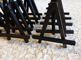 table top place card holders small black wood tabletop easels for miniature art place cards