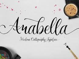 calligraphy font arabella modern calligraphy font freebiesbug
