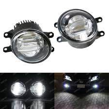 lexus lights for toyota yaris direct fit oem spec 15w cree led projector fog lights set for