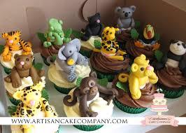 jungle animals baby shower cupcakes party ideas pinterest