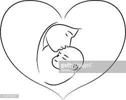 mother holding her sleeping baby vector art getty images