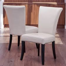 White Leather Dining Chairs With Nailheads Ruby Leather Dining Room Furtado Furniture Leather Dining Room