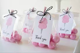cotton candy party favor cotton candy party black twine