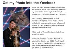 cat high yearbook schenectady high school student says laser cat picture to be in