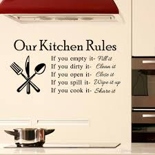 Tile Stickers For Kitchen 2015 Quote Vinyl Art Wall Stickers Decal Our Kitchen Rules