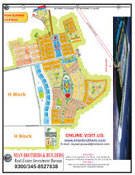 Double Map Site Plan Map Of Pechs Pakistan Employees Housing Islamabad