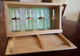 pint glass display cabinet the angler s pint
