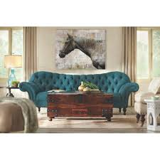 home decorators collection arden peacock polyester sofa 1599000280