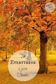 everything give thanks satisfaction through