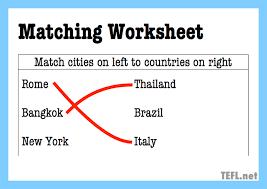 guide to esl worksheets tefl net