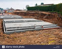 build on site homes modern shallow cinder block foundations on a new build construction