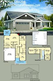 home design narrow lot bungalow house plans apartments bedroom