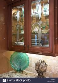 etched glass kitchen cabinet doors luxury etched glass front kitchen cabinet usa stock photo