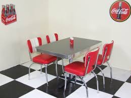 american table and chairs vintage kitchen formica table chairs chrome red white prettyeakfast