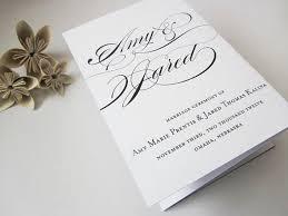 trifold wedding program printable tri fold wedding program calligraphy trifold wedding