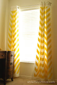 Chevron Pattern Curtains While They Snooze Diy Chevron Curtains Tutorial